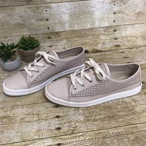 Calvin Klein Perforated Sneakers Blush Pink SZ 8.5