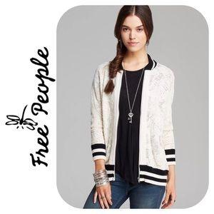 Free People Varsity Lace Cardigan Size L