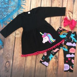 Other - Boutique Girls Unicorn 3pc Outfit