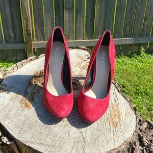Red Aldo heels