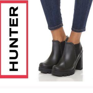 Hunter Boots NWIB High Heel Chelsea Rain Boot sz 9