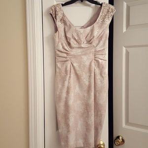Beige pencil dress