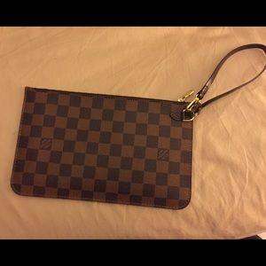 Authentic Louis Vuitton pouch damier ebene