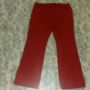 Lands' End Red Corduroy Pant