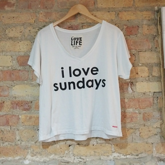 Peace Love World I Love Sundays Tee