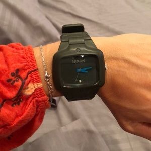 Nixon watch with rubber band