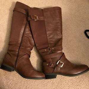 Brown Torrid tall boots, 11w, plus size/xwide calf