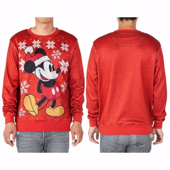 Disney Sweaters Men Mickey Mouse Ugly Christmas Sweater Poshmark