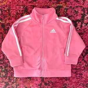 ⚠️ SOLD ⚠️ EUC Pink Adidas Track Jacket ⚠️ SOLD ⚠️
