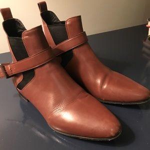 Miu Miu brown leather booties