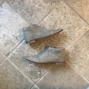 Free People Suede Studded Boots