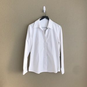 White collared button-up