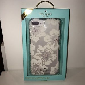 NEW Kate Spade iPhone 7 Plus Hollyhock Floral Case