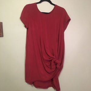 Red/light maroon dress