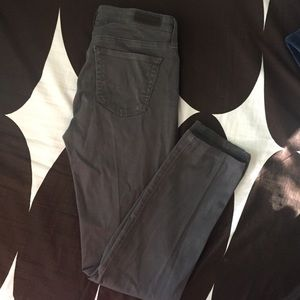 AG ADRIANO GOLDSCHMIED 26R Cigarette Leg Gray Jean