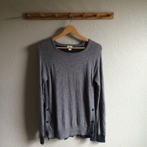 J. Crew Side Button Sweater