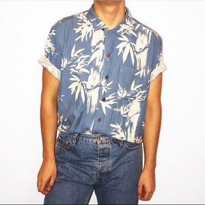 Graphic Palm Tree Button Up.