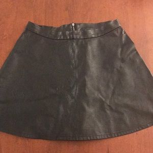 American Eagle Faux Leather Skater Skirt