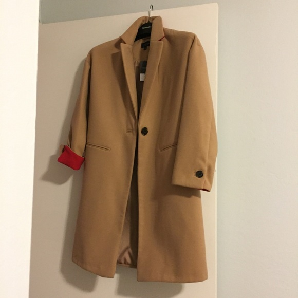 attractive designs on sale online best place TOPSHOP Camel Pea Coat NWT