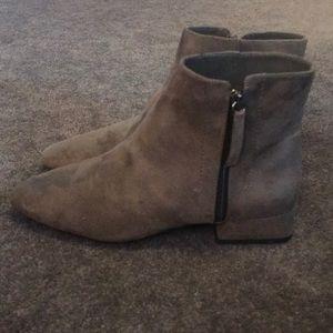 Zara Grey Suede Booties Size 8