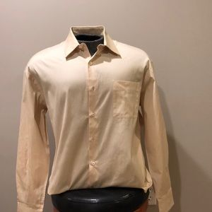 Tan Prada Men's Button Down Shirt Sz 40/15.5