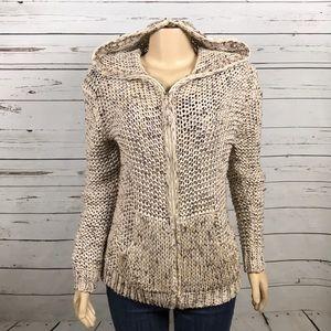 BCBGMaxazria knit zippered hooded cardigan size XL