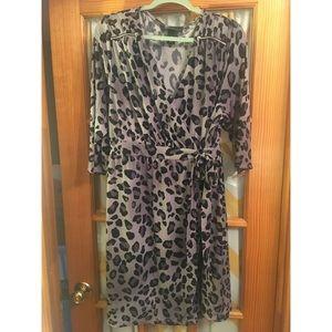 Lane Bryant leopard wrap dress