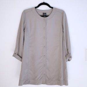 Eileen Fisher Oversized Boatneck Button Up Top