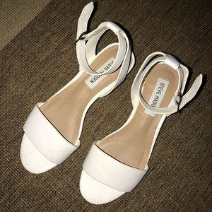 Steve Madden White Sandals Size 6.5 Worn Once