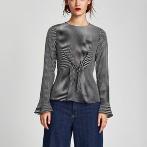 Zara top with front knot