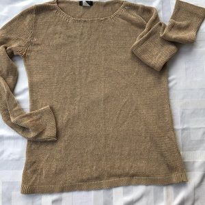J.Crew oversized tan sweater