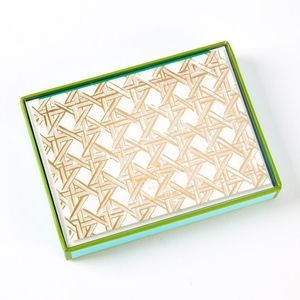 Kate Spade Caning Notecards Box set Brand New!!!