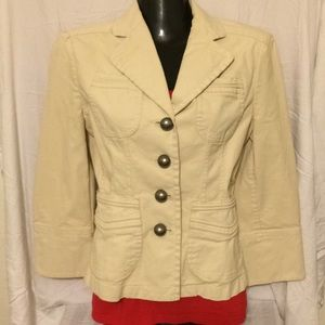 BANANA REPUBLIC Fitted Khaki Jacket
