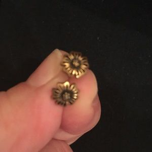 Bronze flower Lucky Brand earrings