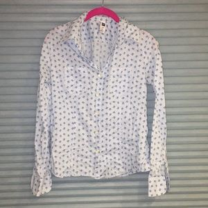 GAP country chic floral blouse