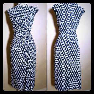 Ralph by Ralph Lauren Navy & white lined dress 6