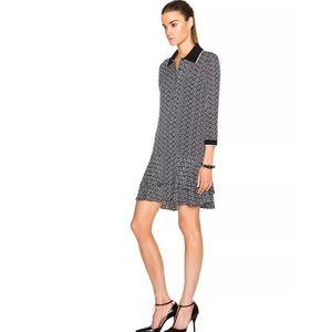 DVF Black and White Samuella Dress 6
