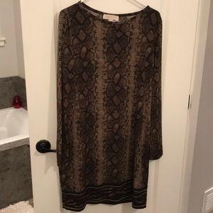 Michael Kory snake skin dress