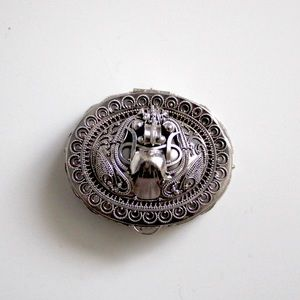 Vintage Sterling Silver Pillbox