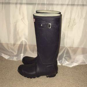 Purple Hunter Rainboots, size 10!
