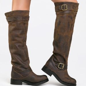 Jeffrey Campbell wishlist distressed brown boots
