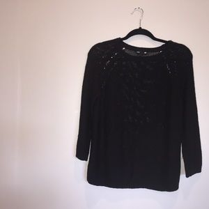 Black knit H&m sweater top size S