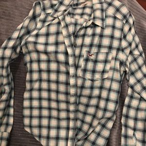 Button down plaid flannel