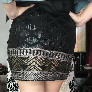 Express mini sequin skirt