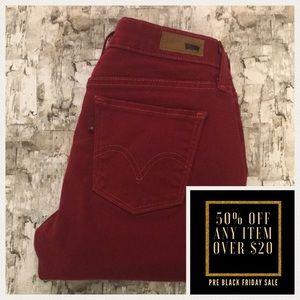 Levi's red jean leggings