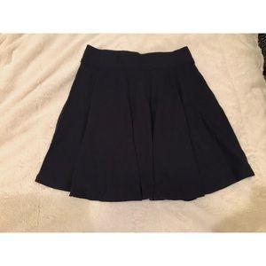 Hollister dark navy skater skirt