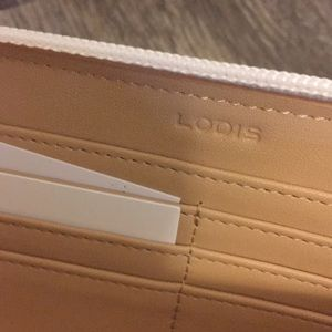 Lodis Bags - NWT LODIS White Ivy Zip Around Checkbook Wallet