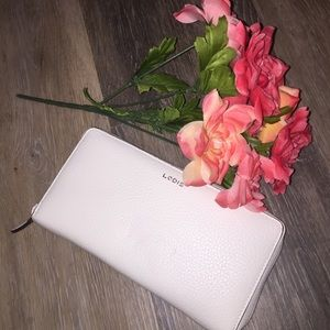 Lodis Bags - NWT LODIS White Ivy Zip Around Checkbook Wallet