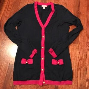 Lilly Pulitzer Pearl Button Bow Cardigan