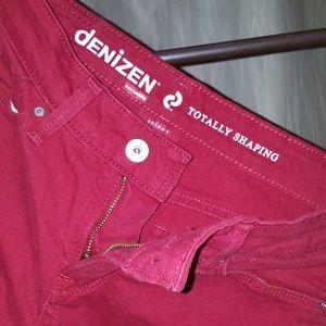 Denizen red super skinny jeans
